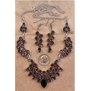Jewelry - AMETHYST necklace and earrings SET 412-01
